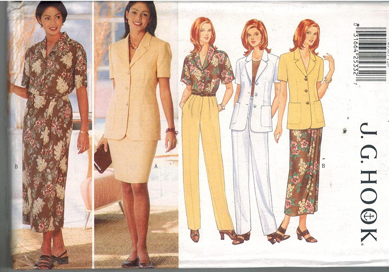 4938 Uncut Butterick Misses Sewing Pattern Jacket Top Skirt Pants Size 12 14 16