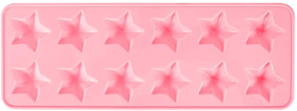 Chocolate Molds Silicone Bakeware Mold, Candy Baking Mold Ice Cube Trays Candies Making Supplies for Chocolates, Dessert Molds, 12 Holes With Star Shape