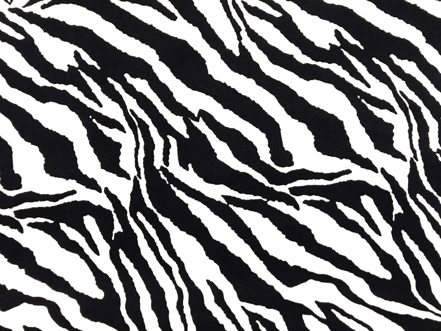 Amornphan 44 Inch Black and White Zebra Pattern Printed 100% Cotton Fabric Craft Cloth Kid Patchwork Handmade Sewing Crafting for 1 Yard
