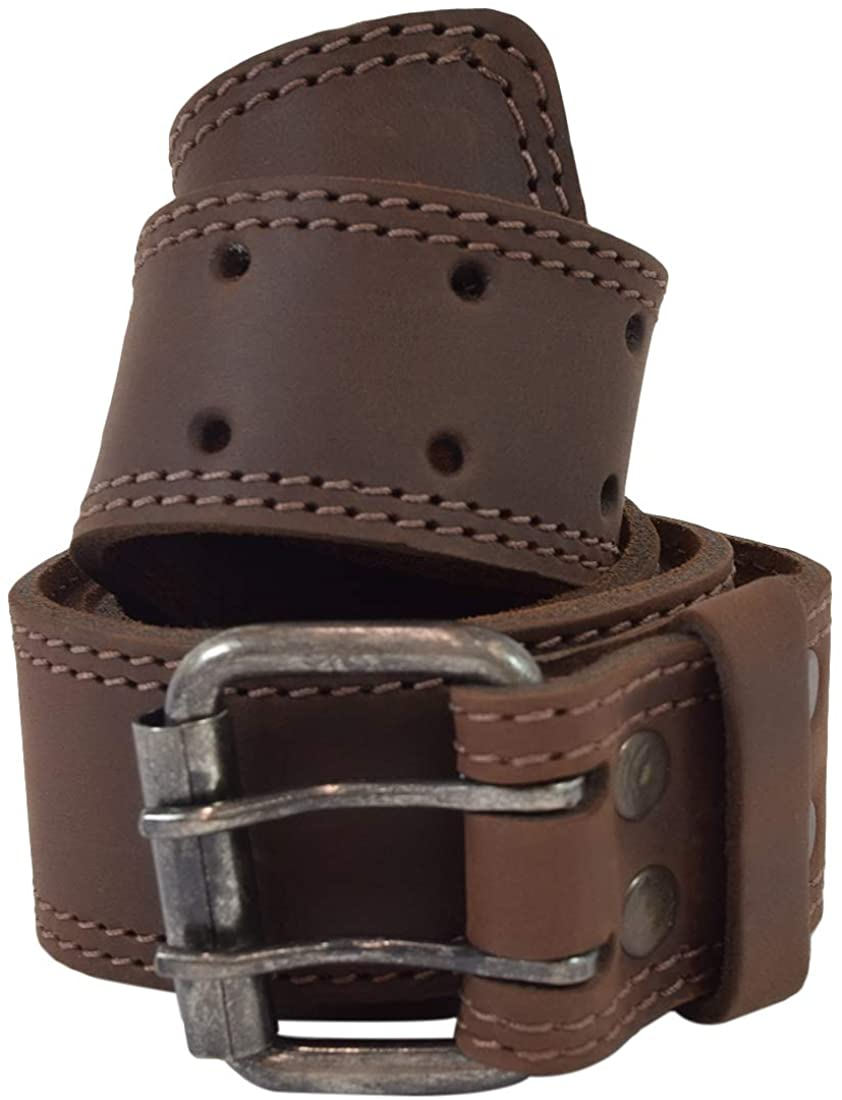 Hide & Drink Strong Leather Belt/Rustic 2 Pin Buckle :: Bourbon Brown