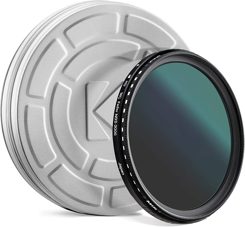 KODAK 82mm Fader Variable ND Filter | Variable Range ND2-2000 Neutral Density Filter, Prevent Overexposure w/Shallow Depth of Field, Capture Motion Blur, Slim, Nano 18-Layer Multi-Coated Glass