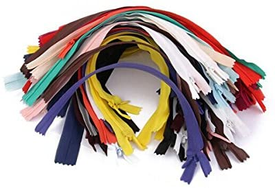 OULII 50pcs 7-inch Nylon Invisible Zippers Tailor Sewer Craft for Sewing (Random Color)