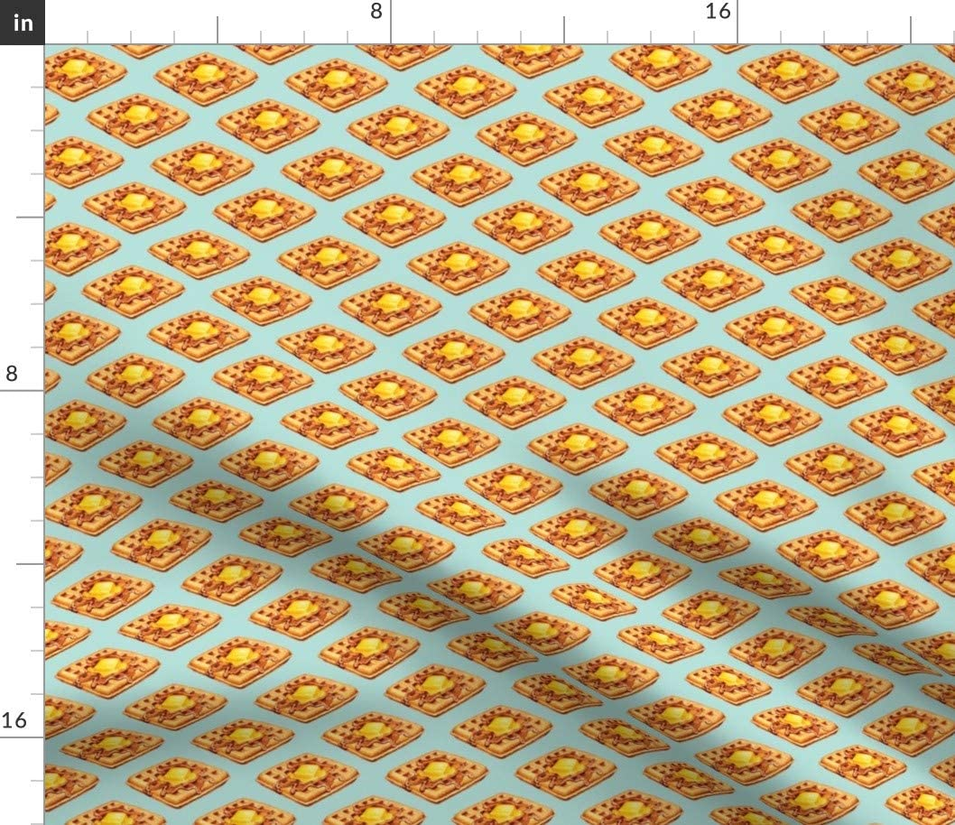 Spoonflower Fabric - Cute Retro Vintage Kitchen Food Breakfast Printed on Cotton Spandex Jersey Fabric by The Yard - Fashion Apparel Clothing with 4-Way Stretch