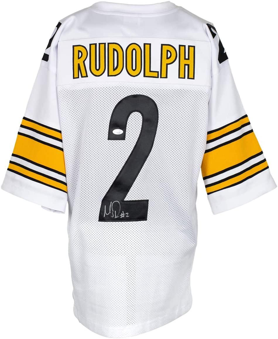 Mason Rudolph Signed Custom White Pro Style Football Jersey JSA