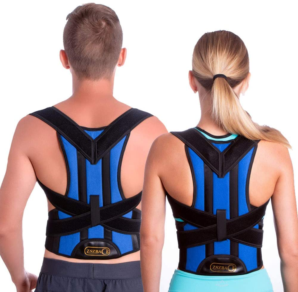 Back Brace Posture Corrector by ZSZBACE - Back Shoulder Support for Back Pain Relief with Dual Adjustable Straps and Breathable Mesh Panels (S)