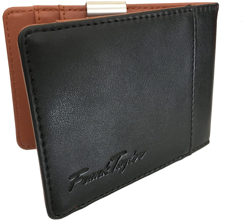 Handmade Leather Money Clip Wallet by Frank Taylor - Warranty, RFID, Minimalist