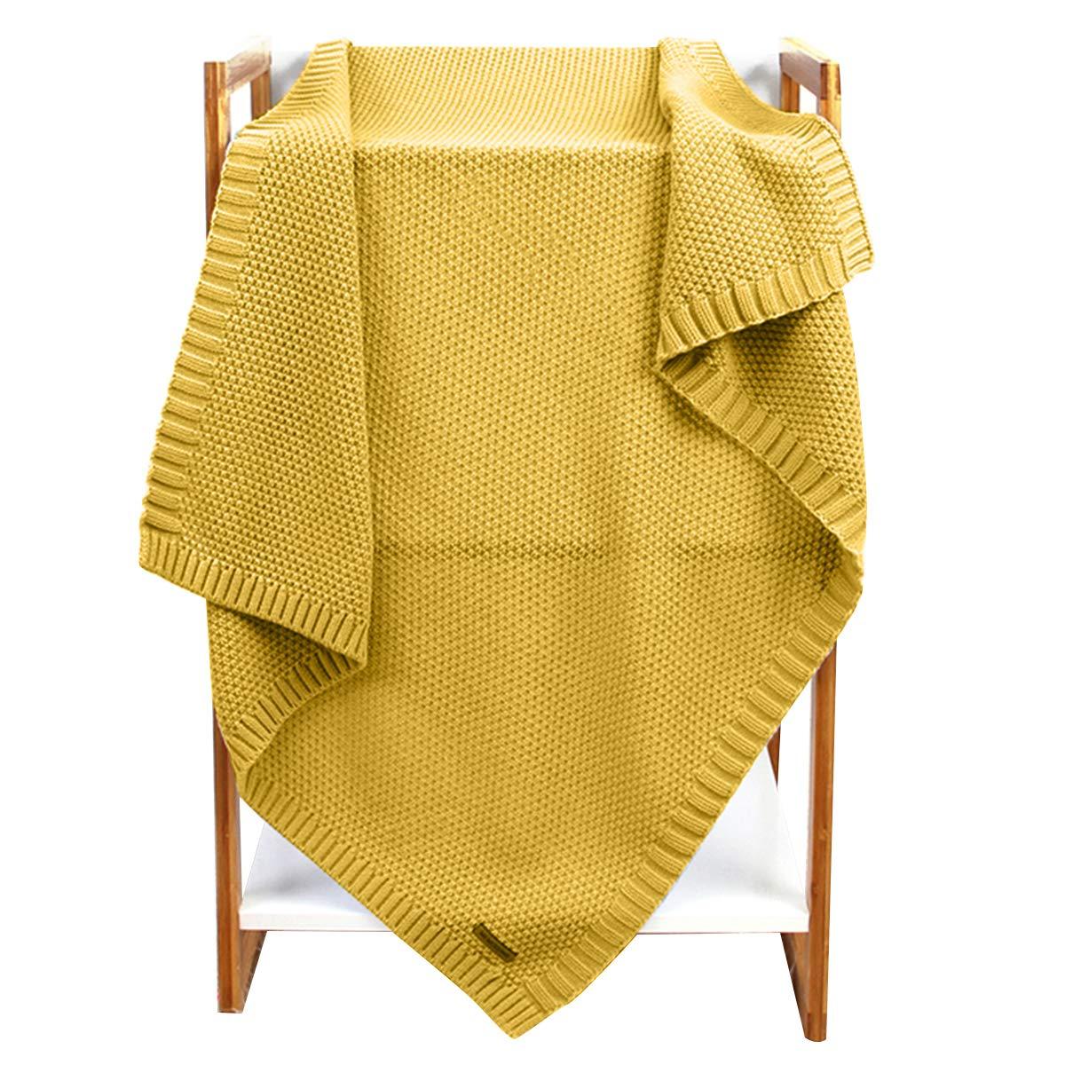 puseky Baby Boys Girl Sleeping Blanket Toddler Knitted Crochet Throw Blanket Newborn Stroller Swaddle Blanket