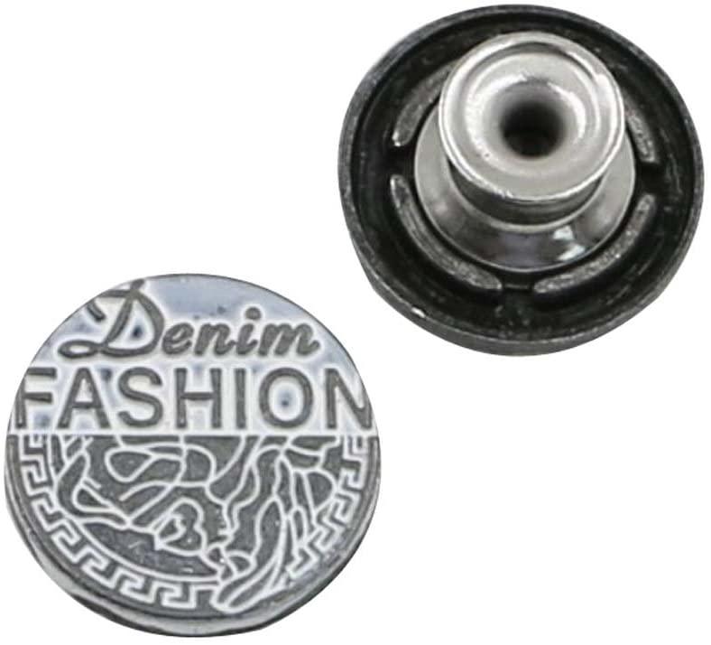 Alien Storehouse 10 PCS Jeans Button Tack Buttons Metal Suspenders Buttons Replacement - 32