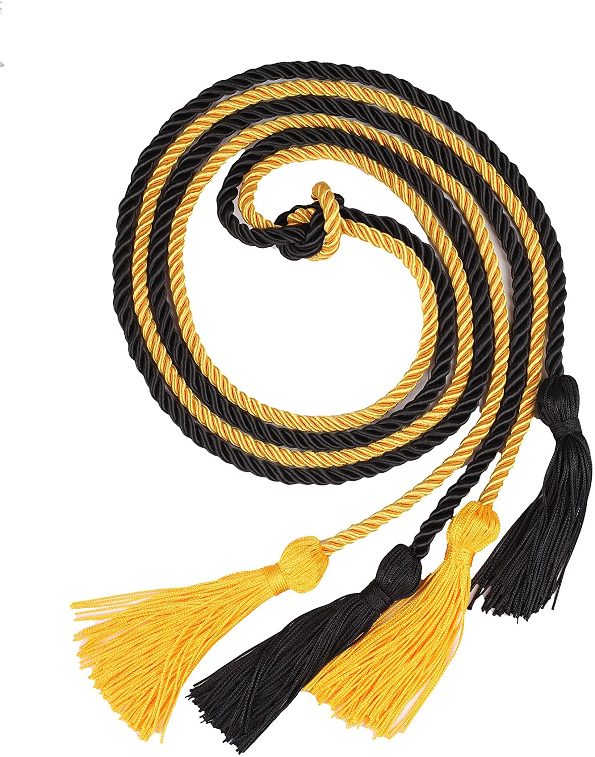 Double Graduation Honor Cords - Black and Gold,68