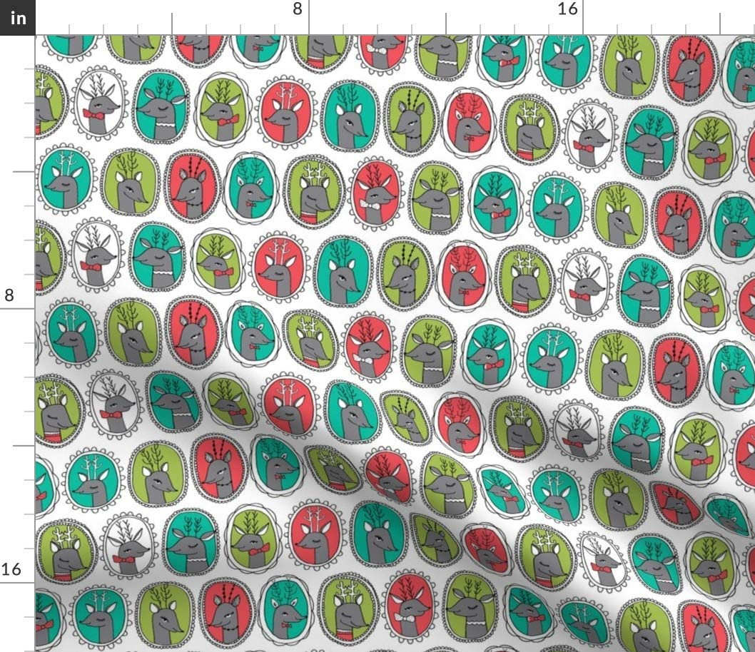 Spoonflower Fabric - Frames White Frame Portrait Kids Holiday Christmas Time Winter Printed on Cotton Poplin Fabric by The Yard - Sewing Shirting Quilting Dresses Apparel Crafts