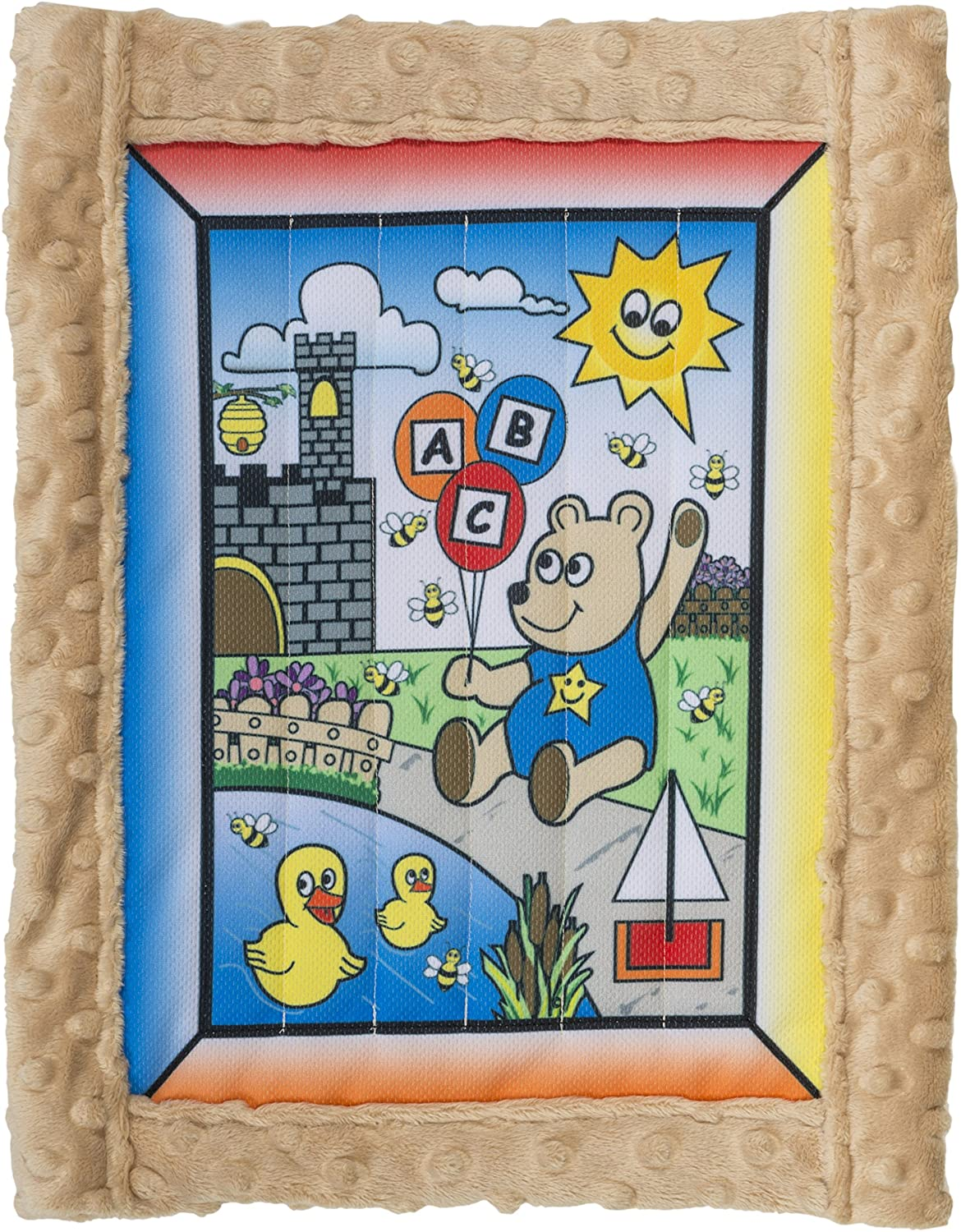 All Inclusive Baby Quilt Kit, Boy Bear w/ tan super soft Cuddle Dimple