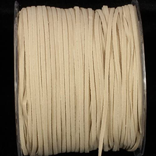 Beautiful Ivory Faux Leather Skai Ribbon Cord 3mm x 220 Yards