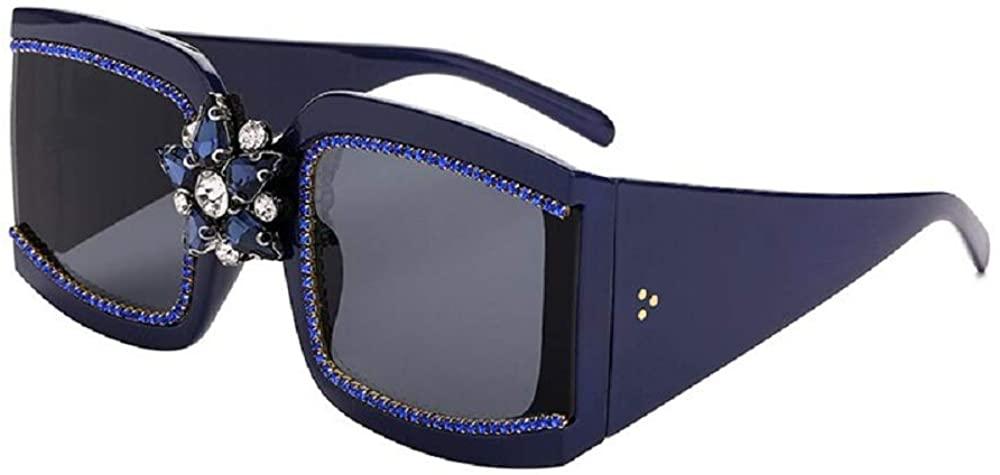 Rectangle Big Frame Sunglasses Women 2020 Rhinestone Vintage Sunglasses Square Fashion Men UV400 Eyewear Eyeglasses