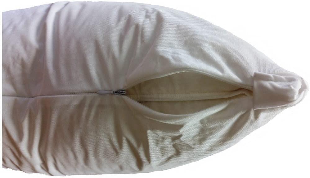 L' COZEE Premium Bed Bug Pillow Protector, Waterproof/Zippered/Dust Mite & Allergy Control Encasement Cover, 10 Year Warranty, Set of 2 Standard - Queen Size
