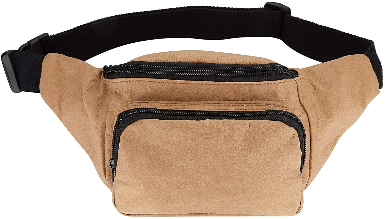 Voyager Paper Fanny Pack by Gordon Sinclair | Washable, Reusable & Tear-Resistant Paper Waist Pack | Eco-Friendly, Vegan, 100% Recyclable | Money Belt for Women & Men