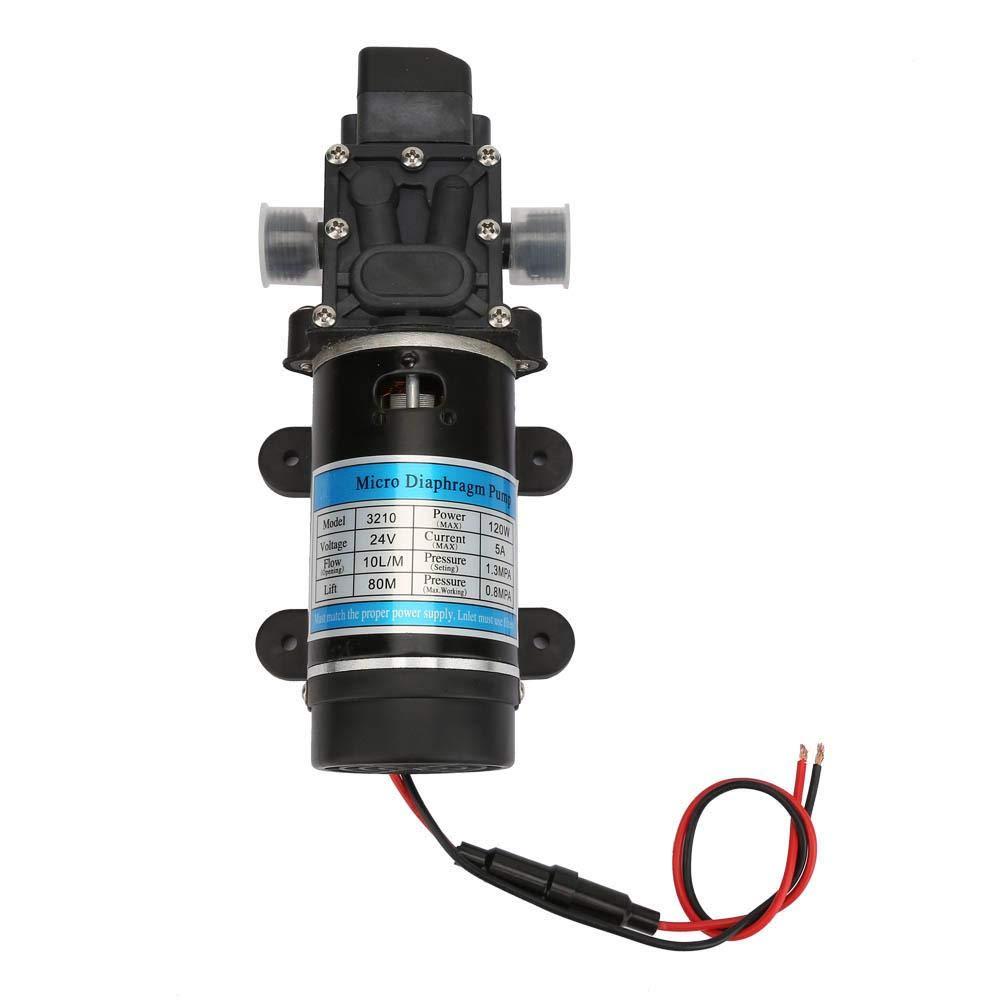 Self Priming Water Pressure Diaphragm Pump,120W 10L/m High Pressure Electric Water Pump Self-Priming Booster Pump Sprayer for Agricultural Spraying,Fluid Transfer (12V/24V)(2#)