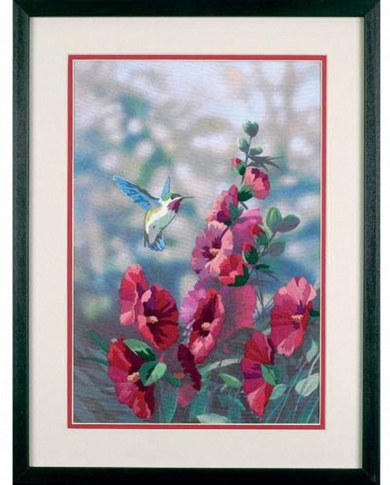 Hollyhock's In Bloom Gallery Crewel Kit-11 Inch x16 Inch