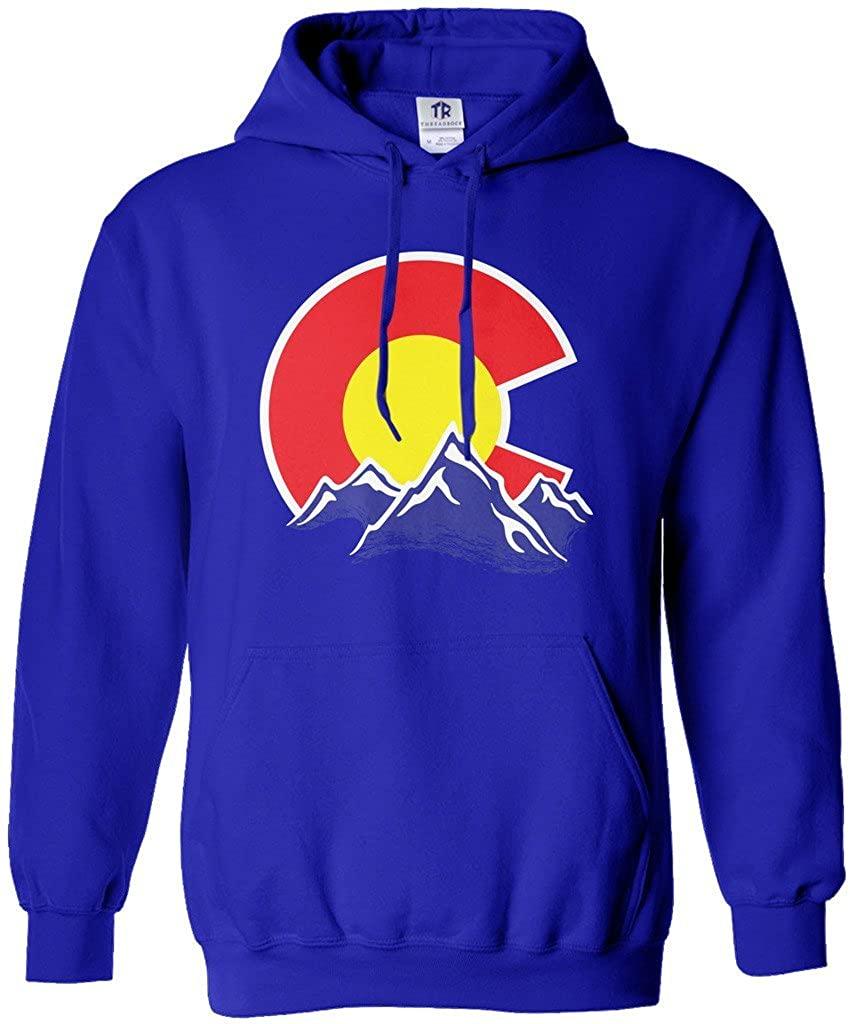 Threadrock Men's Colorado Mountain Hoodie Sweatshirt
