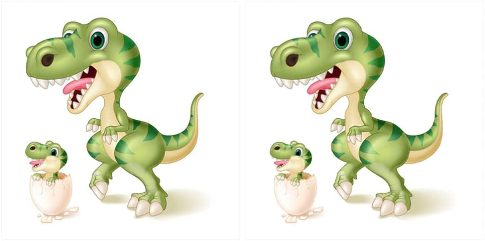 Milisten 2pcs Dinosaur Appliques Iron-on Transfers Patches Heat Transfer Patches Sticker for T-Shirt Costume Bag Clothes (Green)