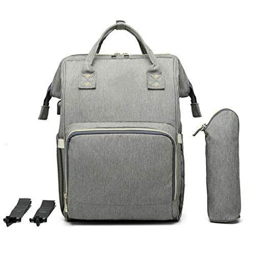 hostic Diaper Bag USB Charging Port Mummy Nursing Backpack Large Capacity Baby Bag (Grey)
