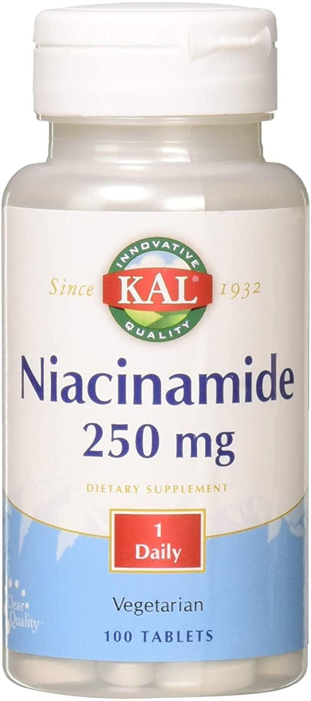 Kal 250 Mg Niacinamide Tablets, 100 Count