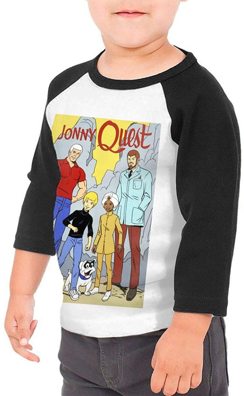 Jonny Quest Cartoon Boys & Girls Infant 100% Cotton Sleeve Raglan T-Shirts Unisex
