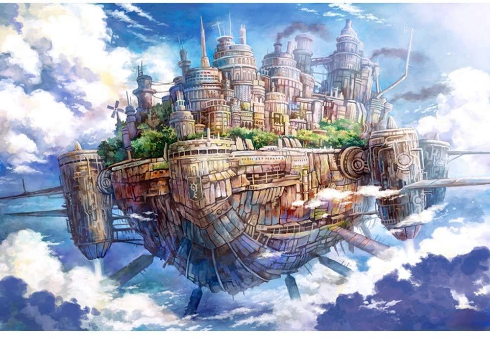 YQSHYP Landscape Puzzle, Sky Ship,DIY Landscape Puzzle Adult Children Puzzles Large Game Interesting Toys Personalized Gift,500,1000,1500,2000,3000,4000,5000,6000 Piece (Color : 6000PCS)