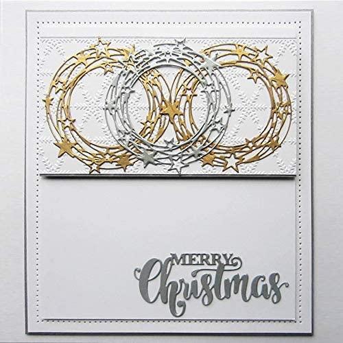 Metal Cutting Dies Merry Christmas Die Cut Frame for Scrapbook Craft Make Album Pos Decorate Cards Embossing PaperDie Die Cuts