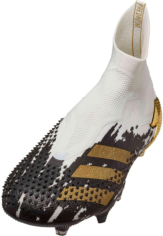 adidas Men's Predator Mutator 20+ FG Soccer Cleats (White/Gold/Black) Size: