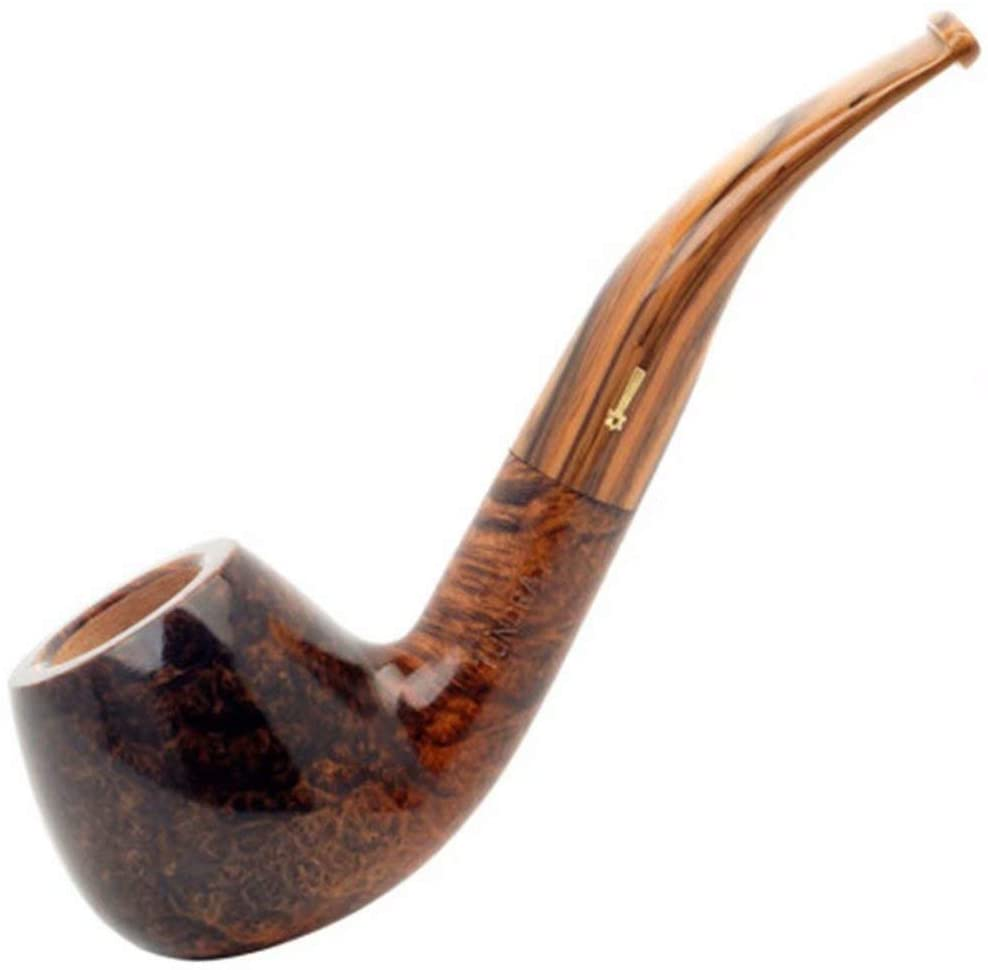 LP-LLL Tobacco Pipe - Imported Arctic Tundra Stone Phoebe Pipe,Classic Curved Tobacco Pipe, Wooden Handmade, Detachable Filter Smoking Pipe,Portable Pipe high-end Business Gifts