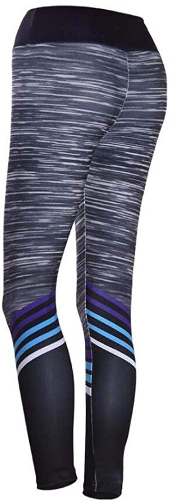 NDFSE-yoga pants Digital Printed Stripe Yoga Pants Bottom Girls