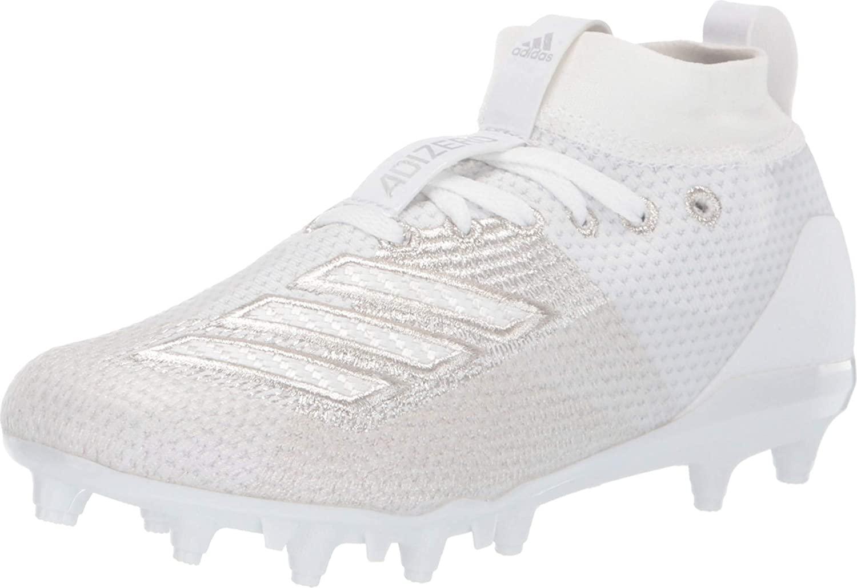 adidas Kids Adizero Burner Football (Little Kid/Big Kid) White 4 Big Kid M