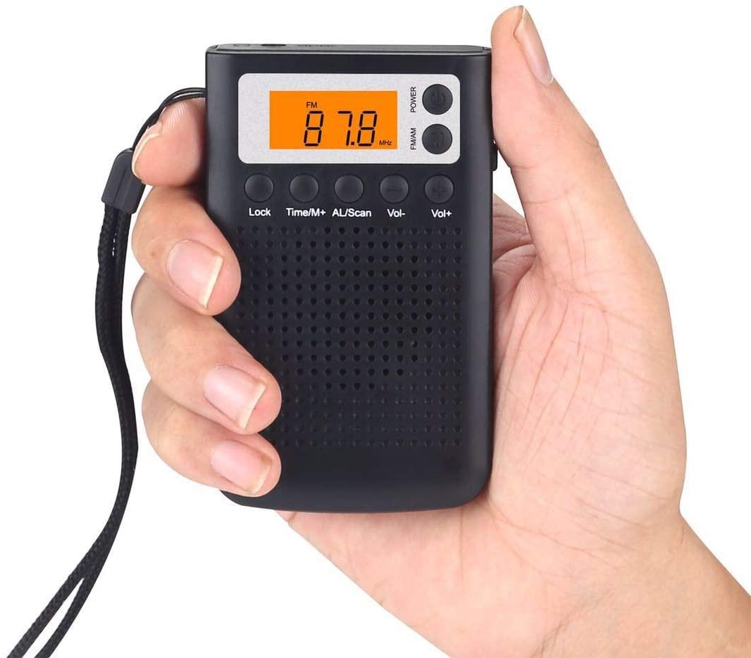 Personal AM/FM Pocket Radio, AM/FM Radio Player/Recorder & Built in Speaker