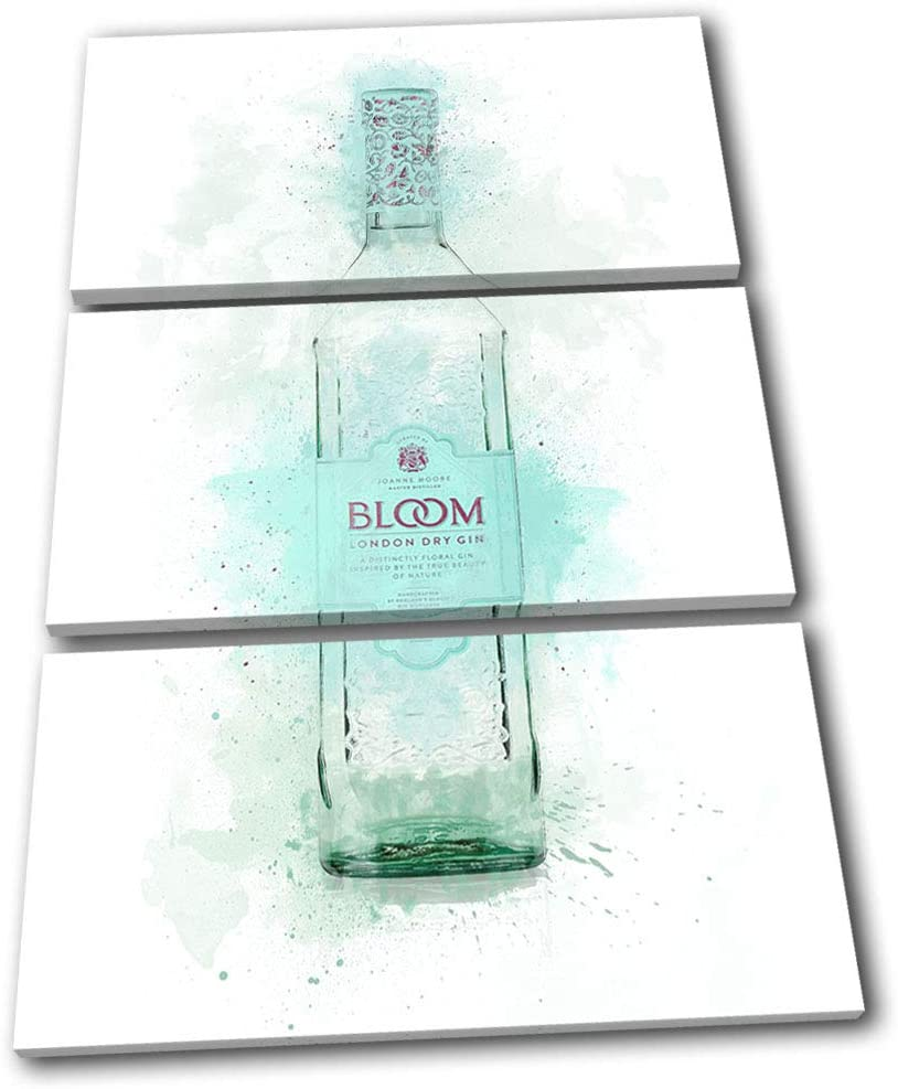 Bold Bloc Design - Bar Cocktail Gin Alcohol Food Kitchen 150x100cm Treble Canvas Art Print Box Framed Picture Wall Hanging - Hand Made in The UK - Framed and Ready to Hang 13-9445(00B)-TR32-PO-D