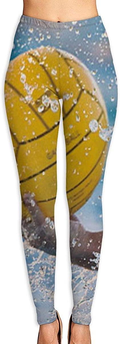 Girl Yoga Pants Leggings Water Ball Splash Running Workout Over The Heel Long Trousers Dance Gym