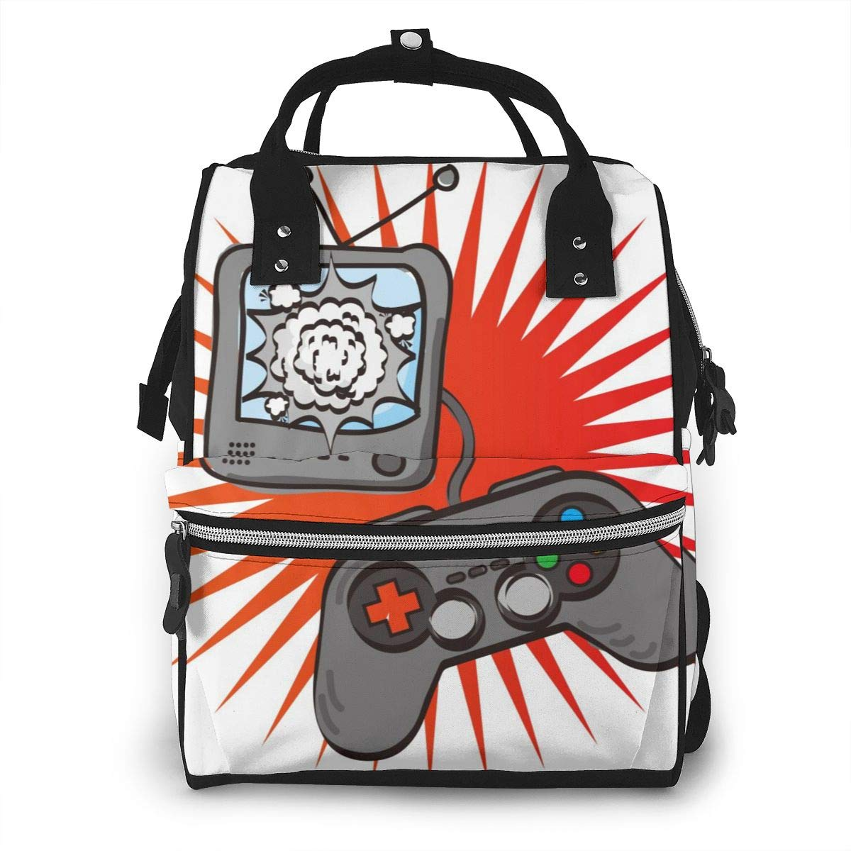 Diaper Bag Backpack Travel Bag Large Multifunction Waterproof Video Games Stylish and Durable Nappy Bag for Baby Care School Backpack