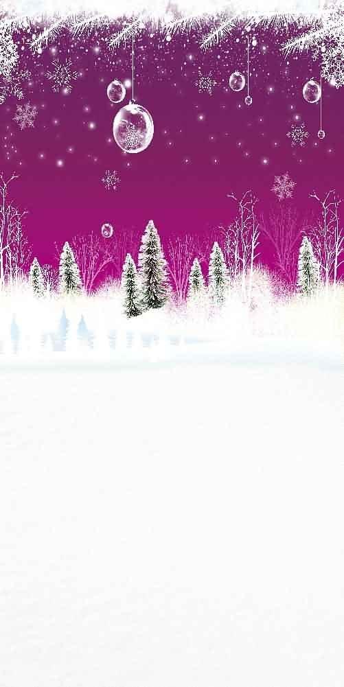 GladsBuy Snowy Trees 10 x 20 Digital Printed Photography Backdrop Christmas Theme Background YHA-487
