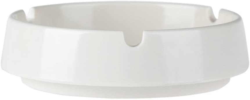 Be&xn Ashtray, Cigar Ashtray Small European Home Office Smoker Decoration Gift-White D9.5xH2.5cm(4x1inch)