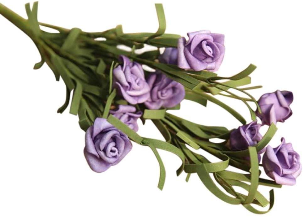 Lookatool Artificial PE Fake Flowers Rose Floral Wedding Bouquet Bridal Hydrangea Decor MW21803