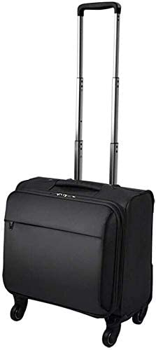 XKstyle Soft-Sided Suitcase Trolley Luggage Light and Durable Rotating Wheel Cabin Size Suitcase Lightweight (Size: 18 Inches) (Color : Black, Size : 16 inch)