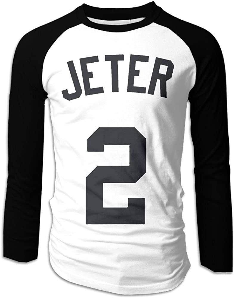 CDBA Derek Jeter NO.2 Long Sleeve Baseball Jersey T Shirts For Mens