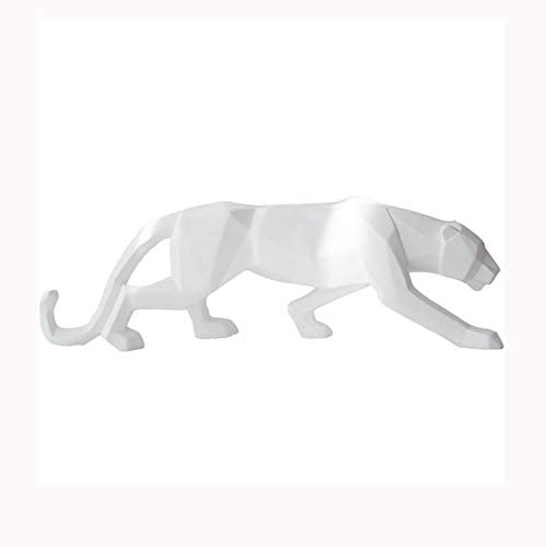 GPPZM Modern Abstract Panther Sculpture Geometric Resin Statue Wildlife Decor Gift Craft Ornament Accessories Furnishing