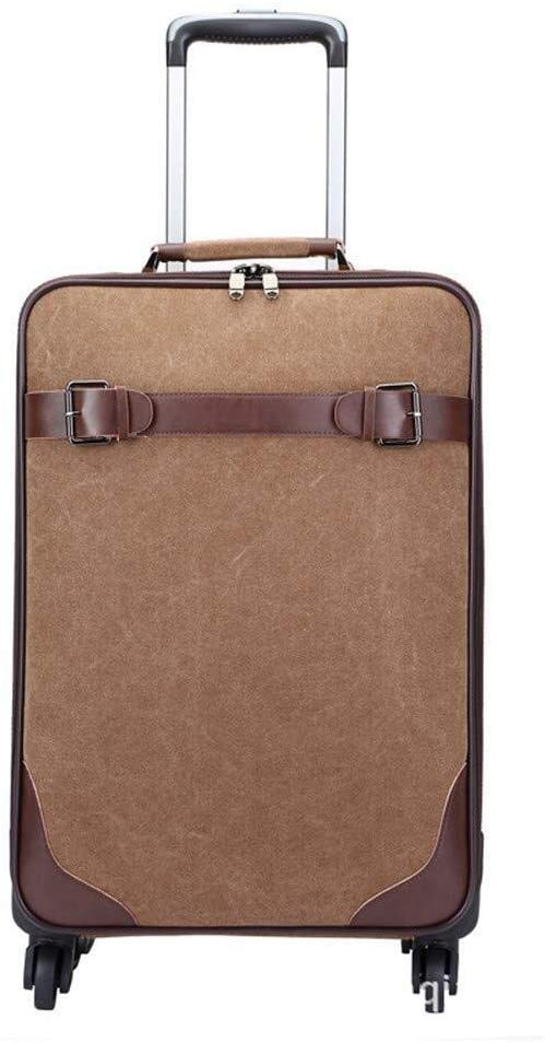 XKstyle Canvas Trolley Suitcase, Caster, Travel Bags, ABS Luggage Board Chassis