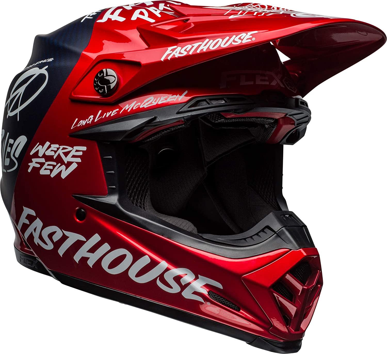 Bell Moto-9 Flex Dirt Helmet (Red/Navy - Small)