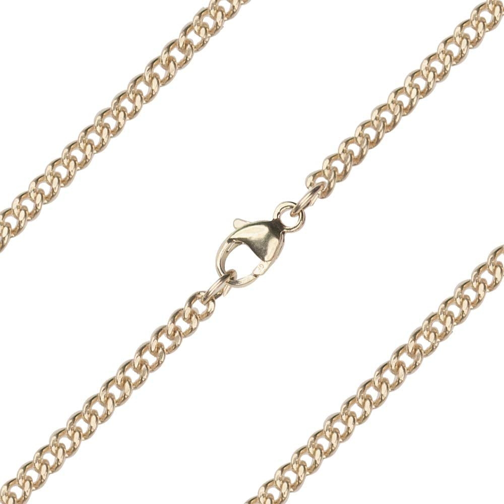 27 inch 14kt Gold Heavy Curb Chain. The Chain measures 2.50mm in thickness and comes carded.