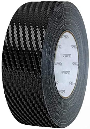VViViD Black Carbon Fiber Air-Release Adhesive Vinyl Tape Roll (3 Inch x 20ft)