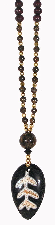 Bodhi Leaf / Dzi Amulet