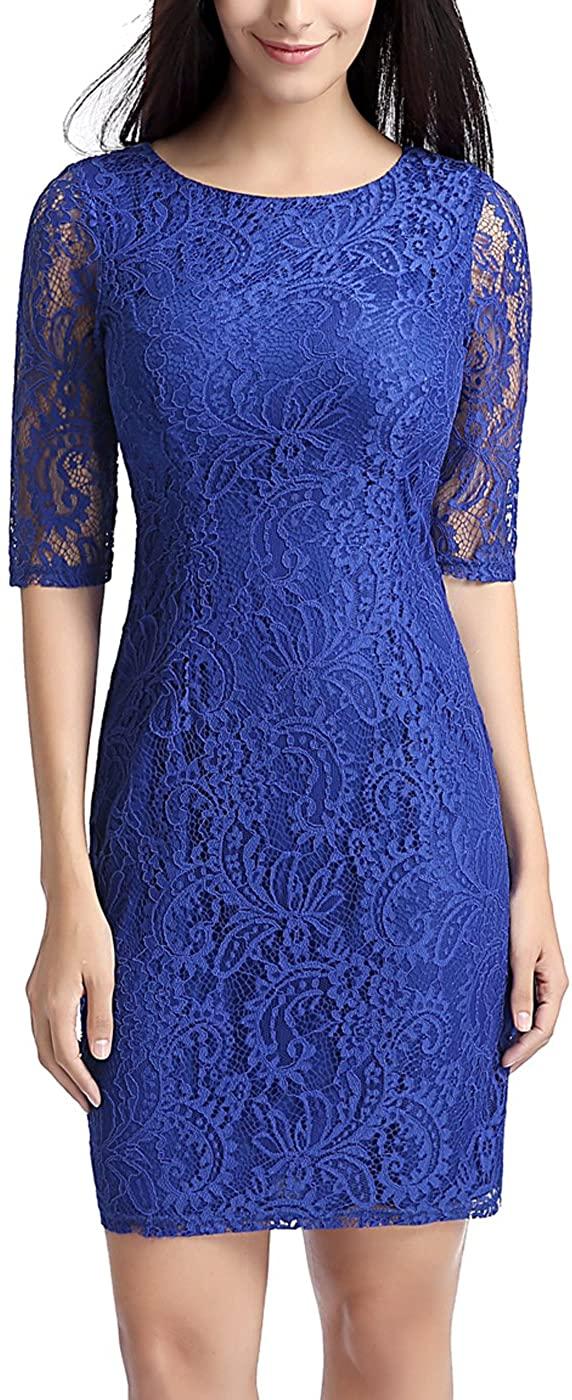 phistic Womens Lace Overlay Sheath Dress