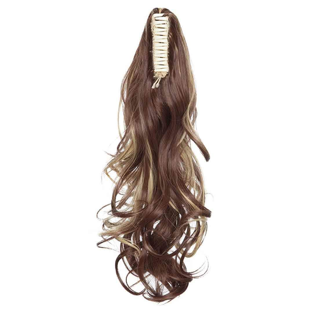 Claw Clip On Ponytail Hair Extension Synthetic Ponytail Enxtension Hair For Women Pony Tail Hair Hairpiece F8-22 18inches