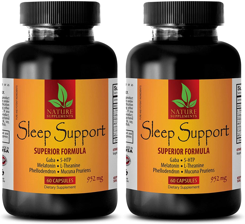 Sleeping aid snoring - Sleep Support Superior Formula 952 Mg - melatonin Alcohol Free - 2 Bottles (120 Capsules)